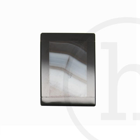 30mm, 30x40mm, 40mm, Black, Onyx, Pendant, Rectangle, Semi-precious, Semiprecious, Stone, Stone Pendant