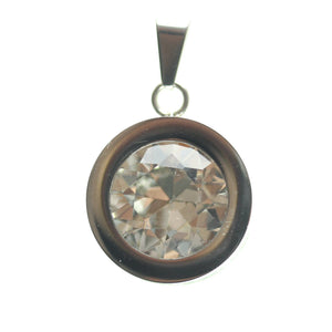 Crystal Cubic Zirconia 20mm  Round PendantPendant by Halcraft Collection