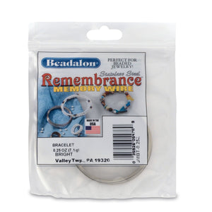 Remembrance Memory Wire, Round, Bracelet, Bright, 0.25 Oz (7 G), Appx 49 Coils/Pack