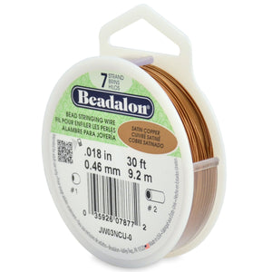 7 Strand Stainless Steel Bead Stringing Wire, .018 in (0.46 mm), Satin Copper, 30 Ft (9.2 M)