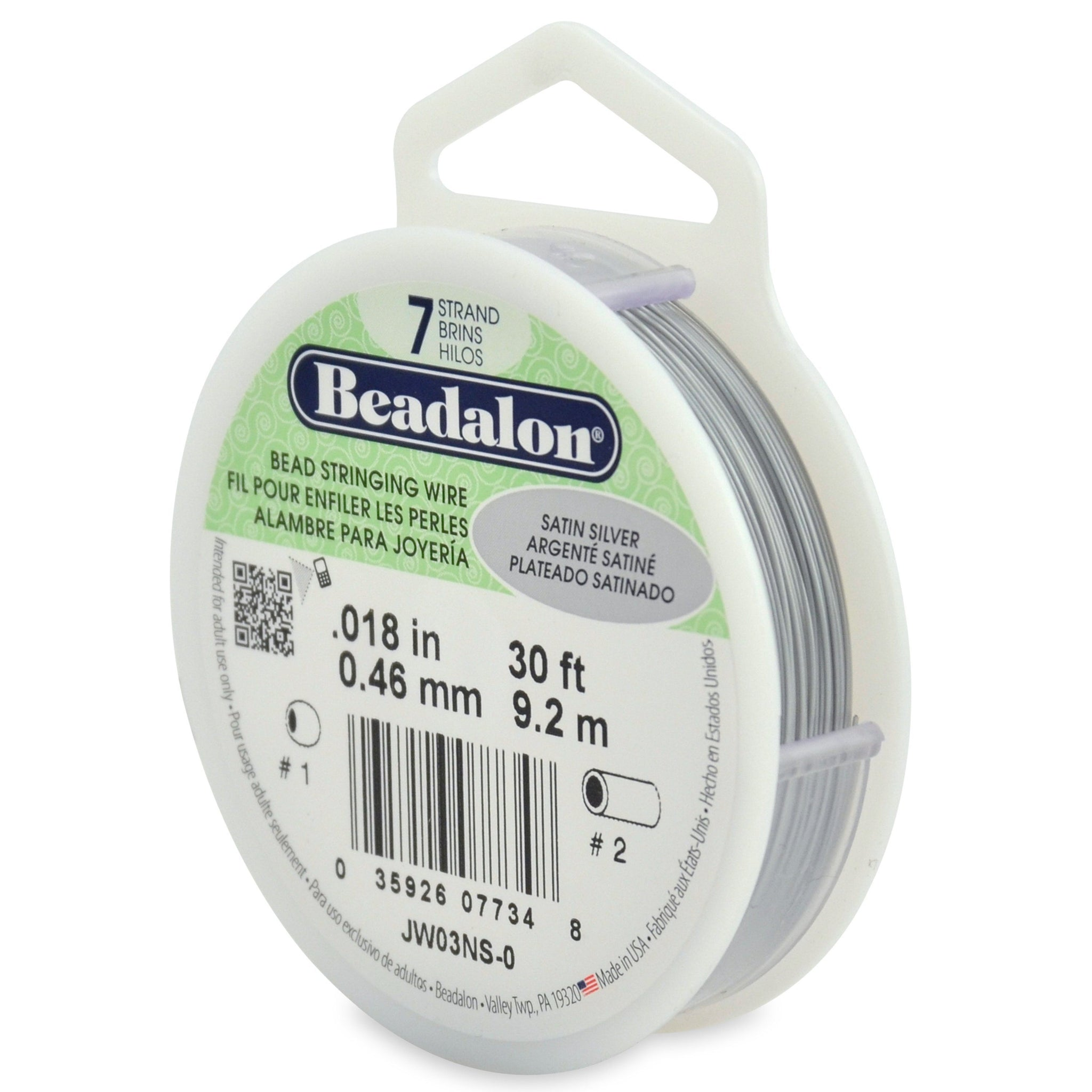 Beading Needle for Stringing Beads /& Pearls 0.46mm