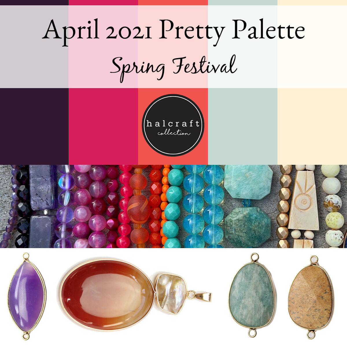 Abril de 2021 Pretty Palette Bead Kit