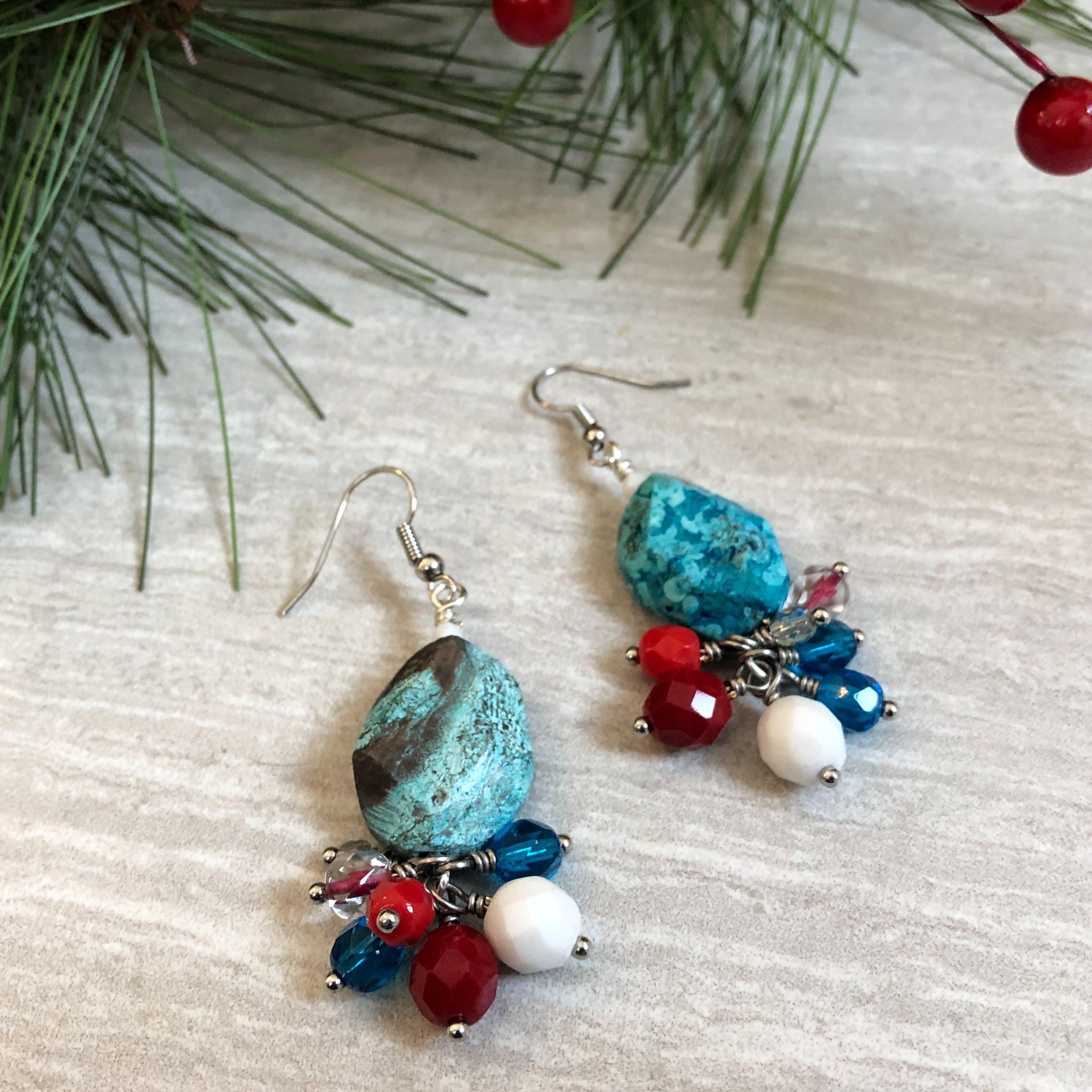 Berry Frost DIY Earrings