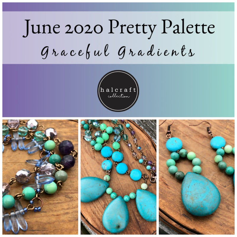 June Pretty Palette paleta de colores con brazalete, collar y aretes