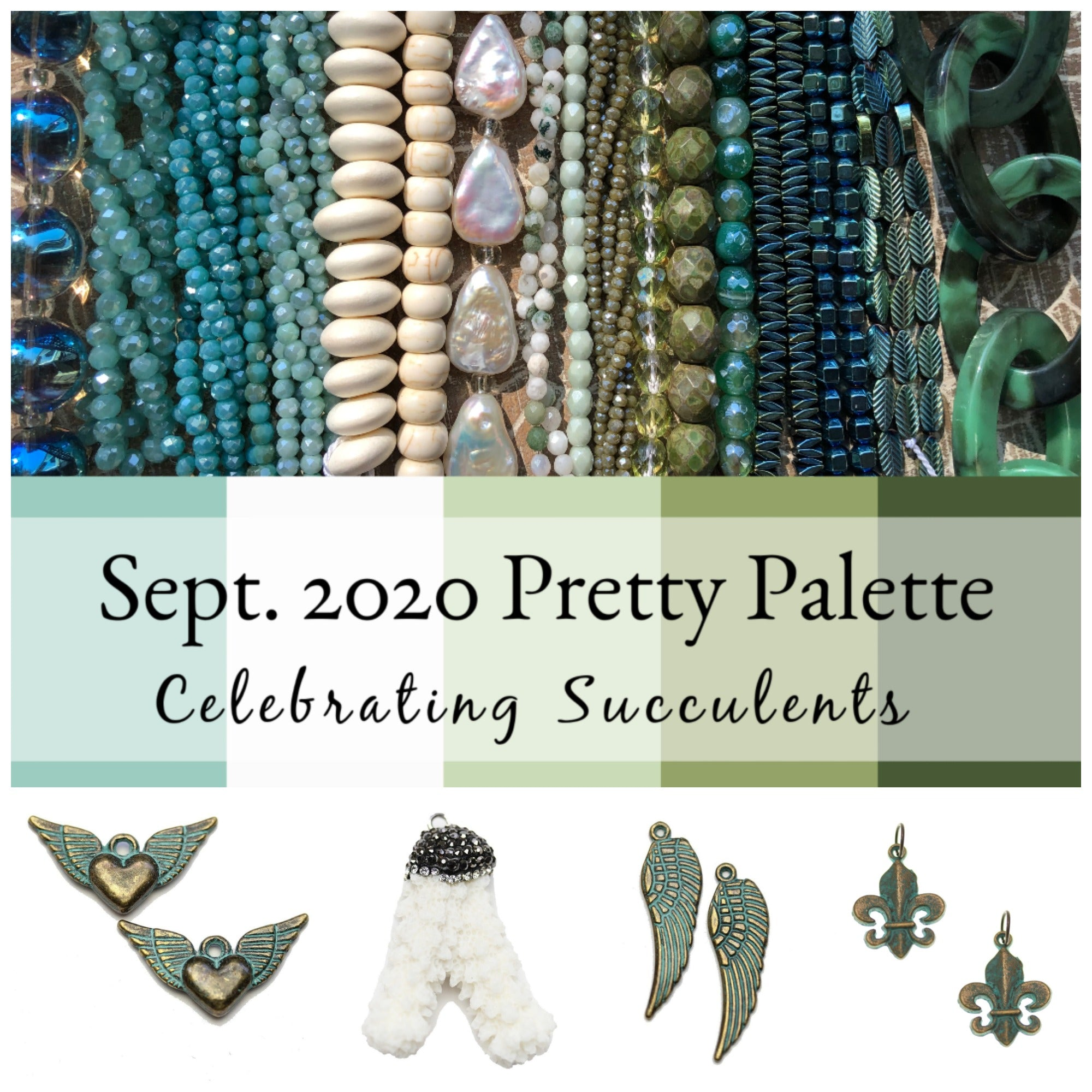 bead strands in blue, cream, grey, and reddish orange, sea-themed charms, tassels, starfish pendant, and leather cording