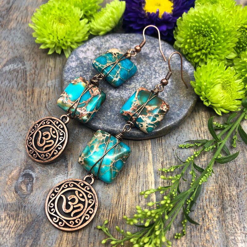 Aqua Autumn DIY Earrings
