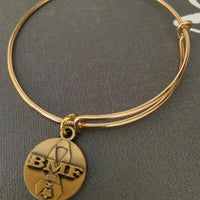 BMF Womans Gold Bangle Bracelet