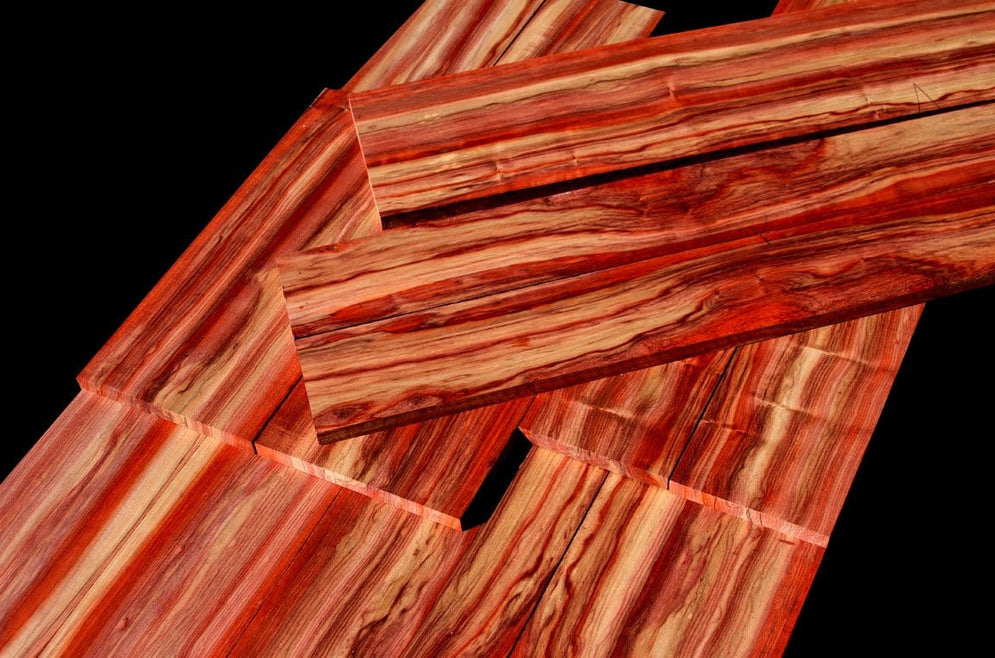 Tri-Color Marbled African Padauk, Looks just like Bacon