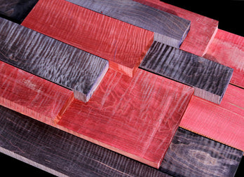 XF Figured Red & Purple Stabilized Maple ~ Whole Boards!