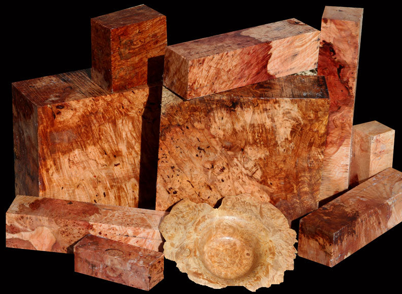 Exhibition Maple Burl ~ Large Turning Sizes!
