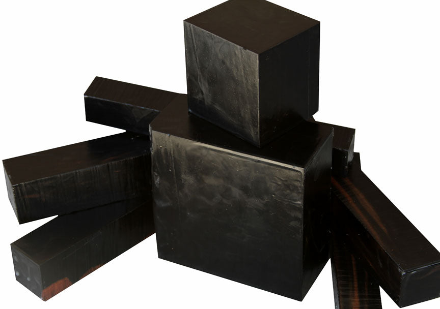 Gabon Ebony Turning Wood ~ Blackest Color Ever!