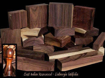 Violet Black Indian Rosewood ~ Works Easily, Buttery-Smooth Polish!