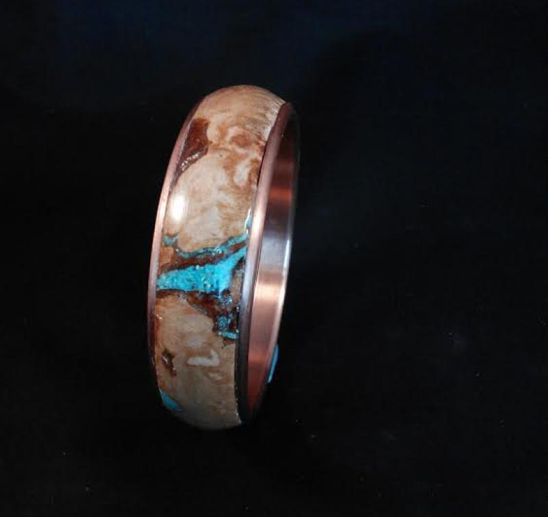 Maple & Turquoise Bangle Bracelet