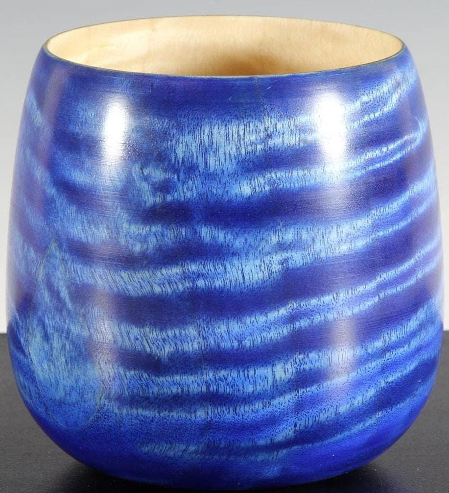 Blue Dyed Cottonwood Cup