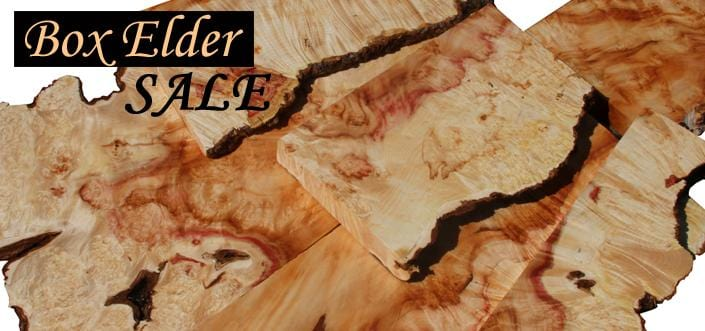 XF Box Elder Burl, Live Edges & Pink Color
