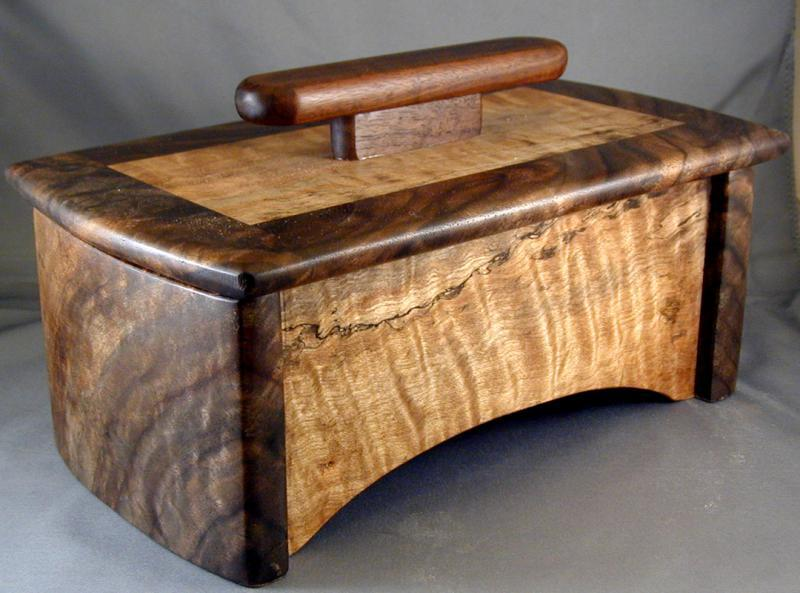 Claro Walnut & Spalted Maple Box