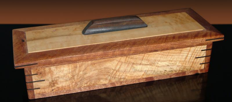 Figured Maple & Mahogany Box
