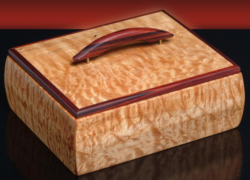 Quilted Maple & Cocobolo Box