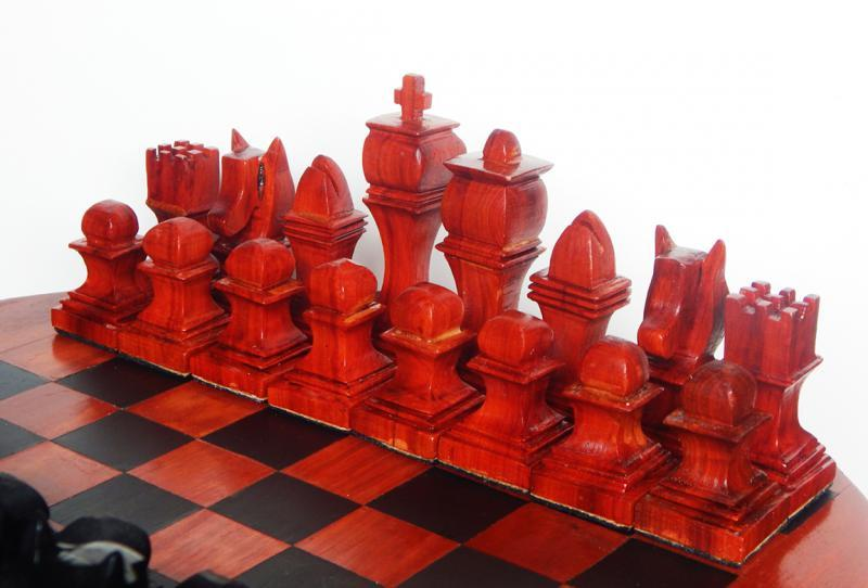 Chess Set African Padauk