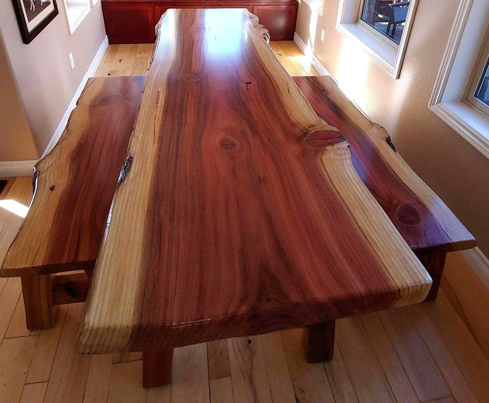 Dining Table in Redwood