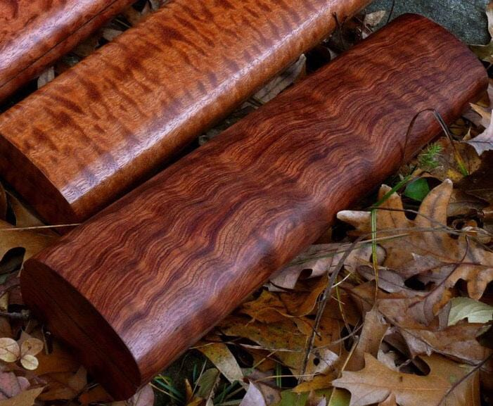 Flute Case in Waterfall Bubinga