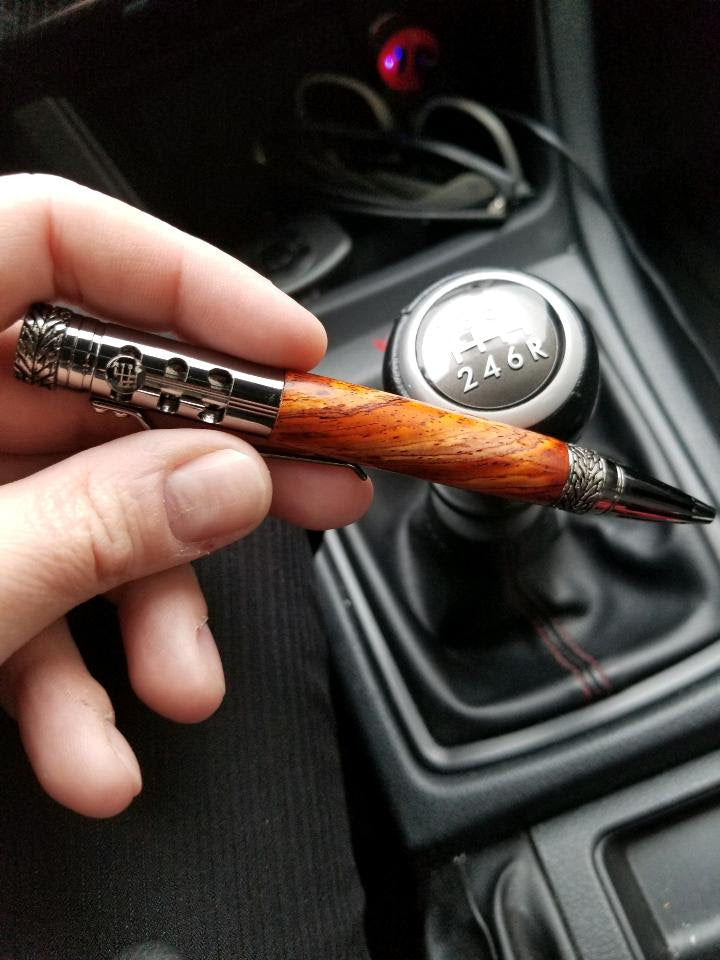 Gear Shifter Pen crafted from Cocobolo