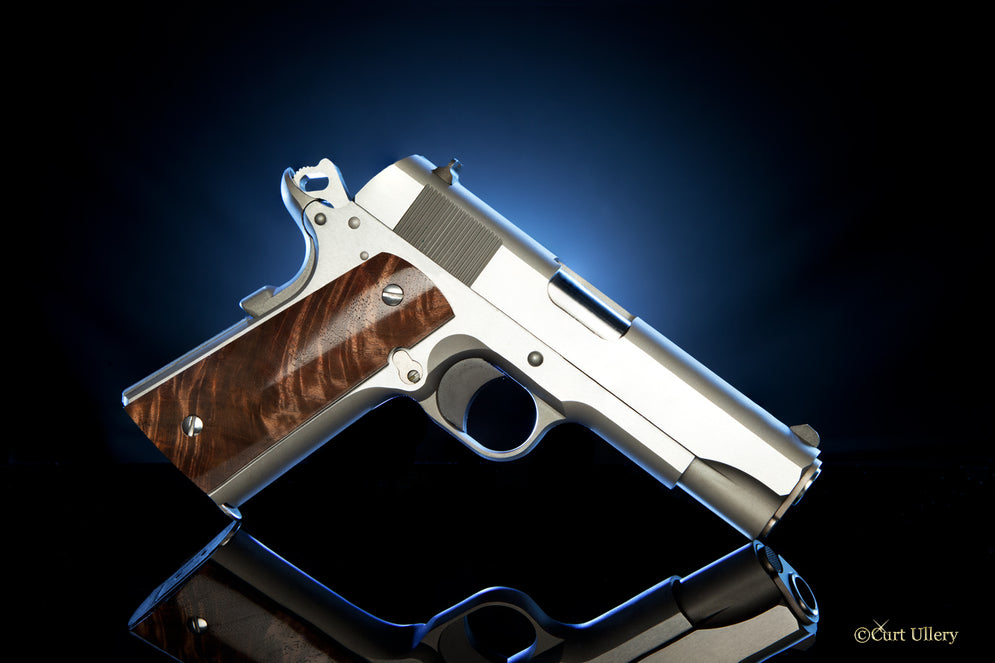 Hand crafted 1911 grips in Claro Walnut