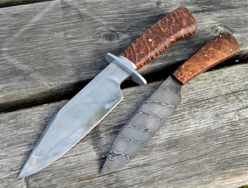 Redwood Burl & Amboyna Knives