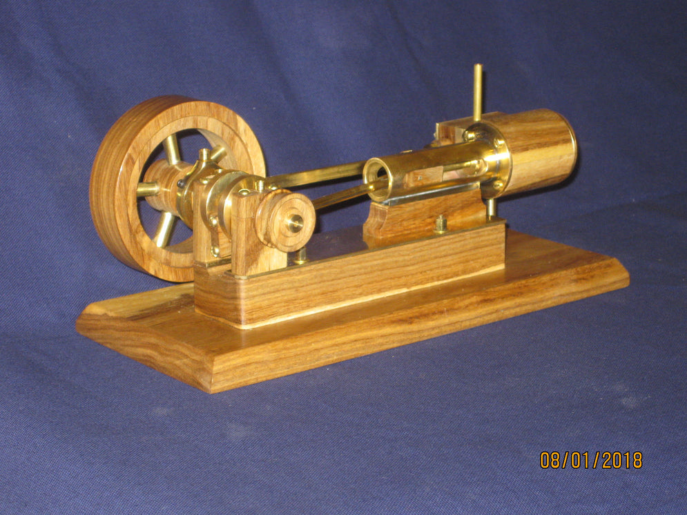 Mill Style Steam Engine in Bolivian Ebony and Brass