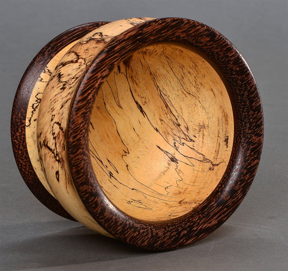 Spalted Tamarind and Black Palm Bowl