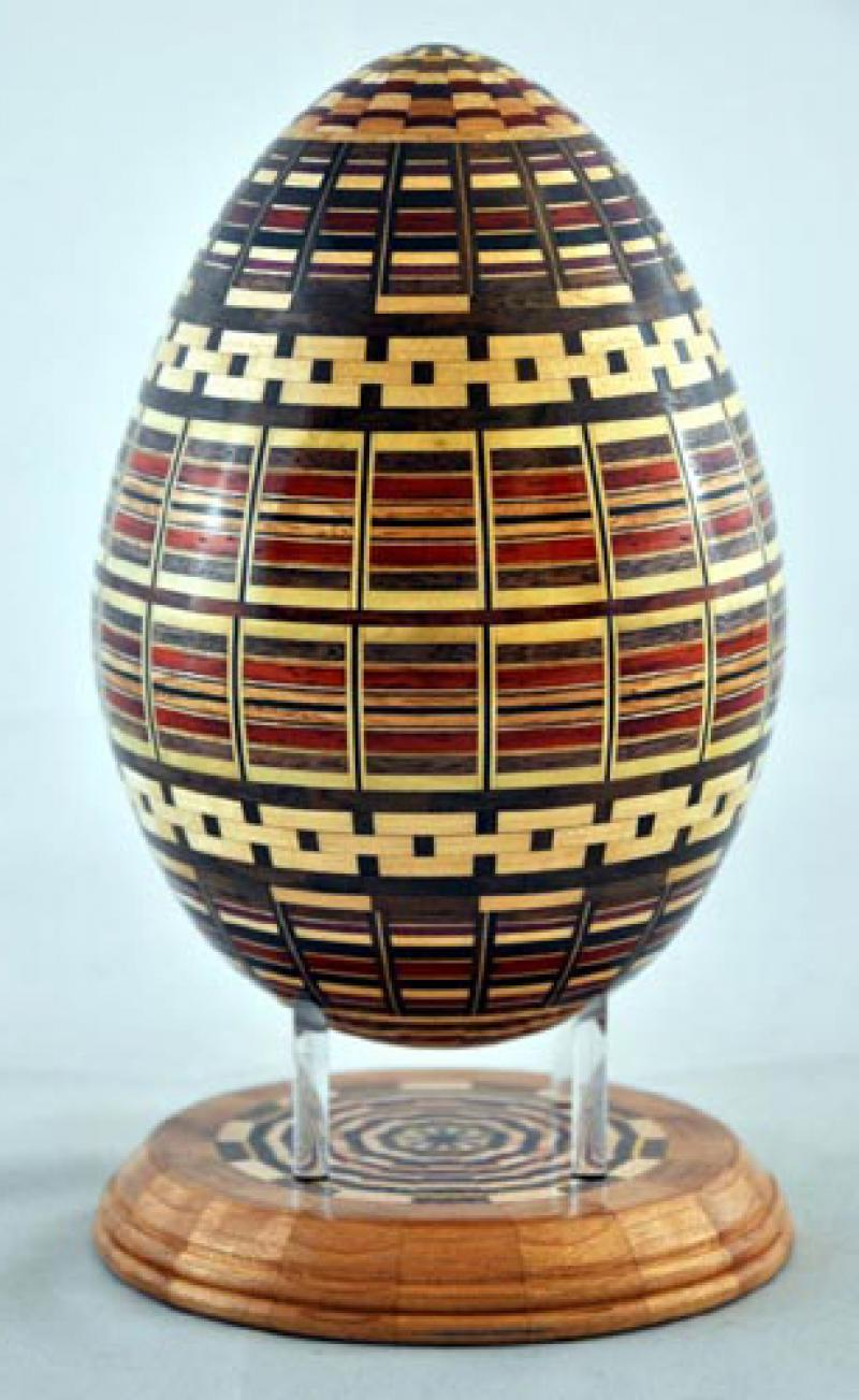 Segmented Wood Egg