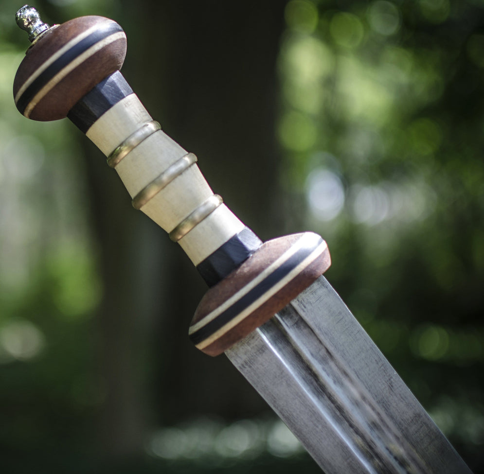 3rd Century Roman Spatha Sword carved from White Holly, Ebony and African Mahogany