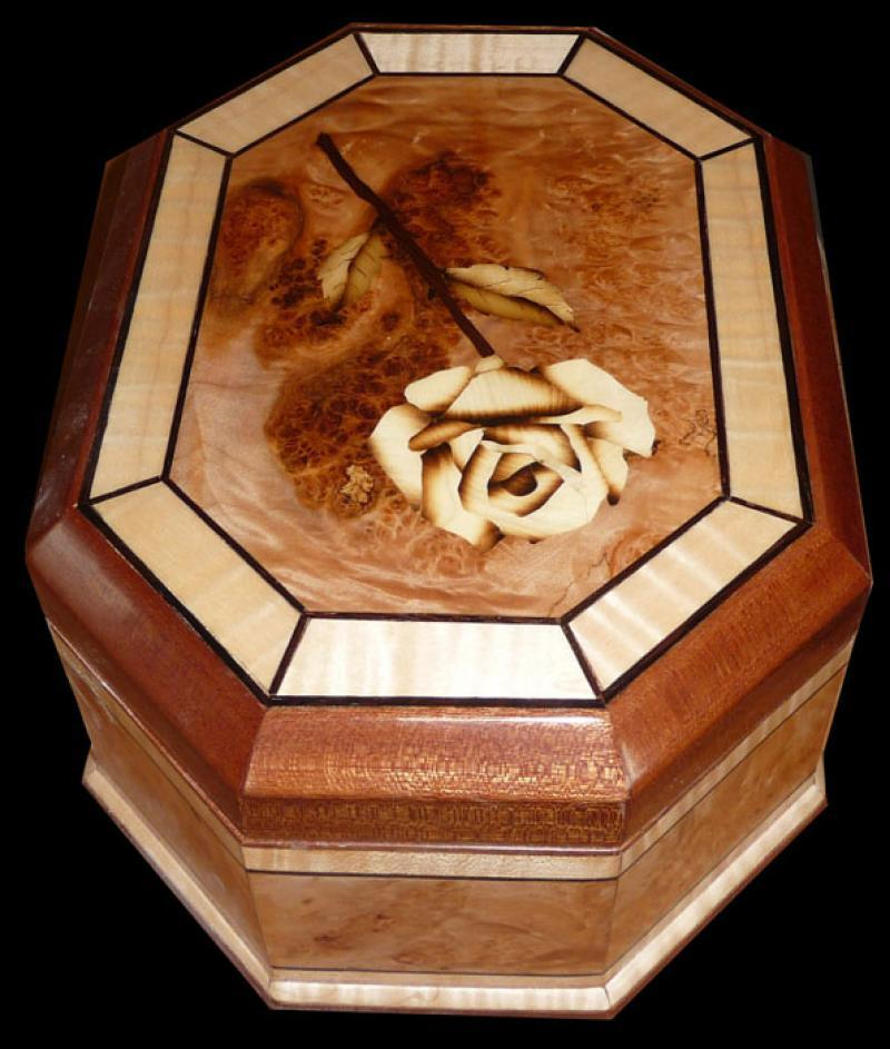 Rose Inlay Box