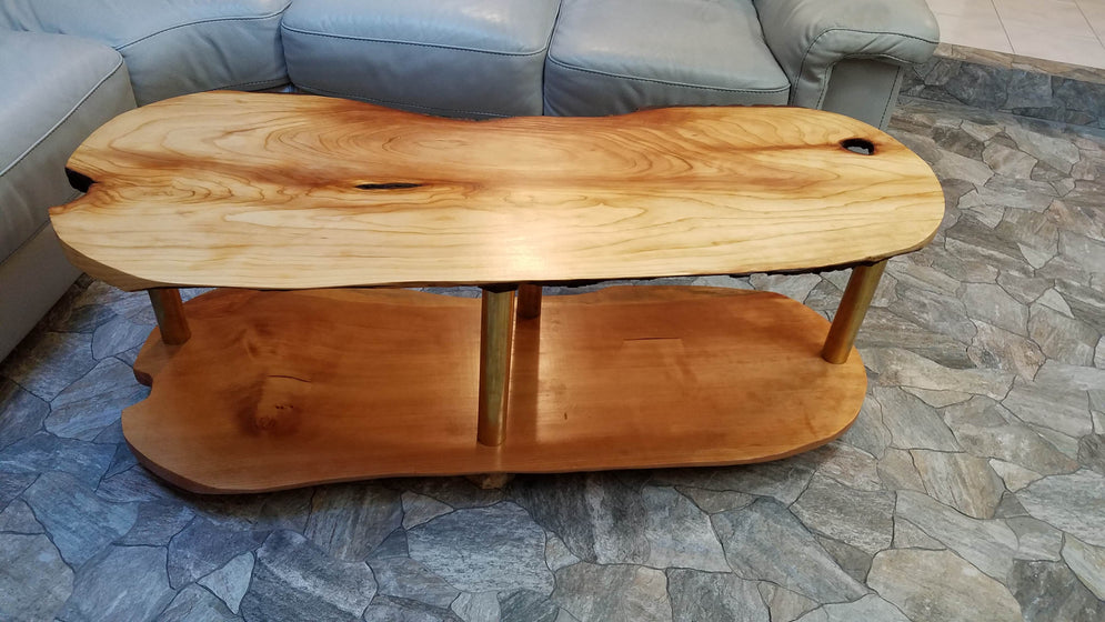 Sitka Spruce Profiled Coffee Table