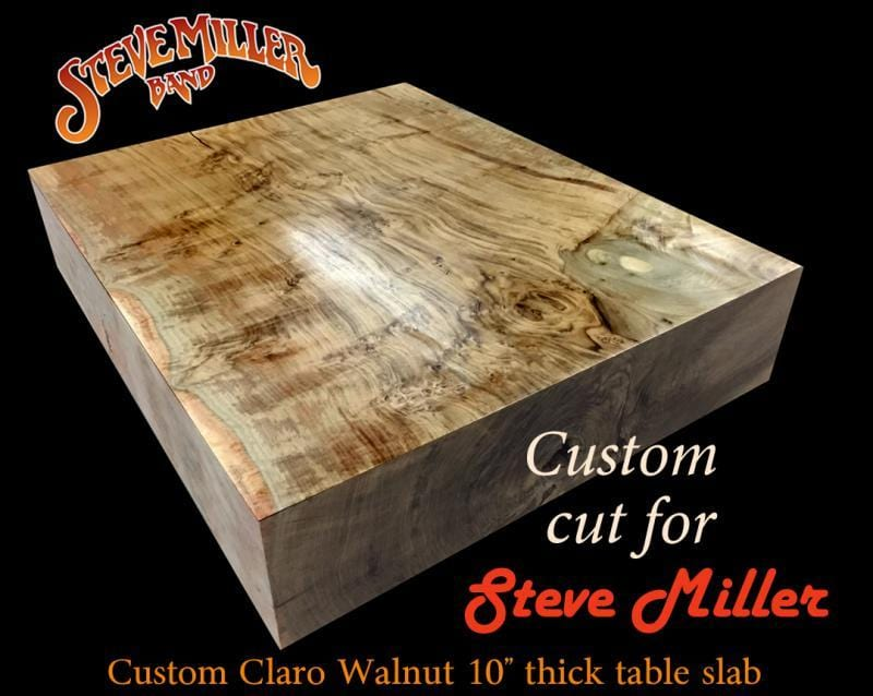 Claro Walnut Table Top Slab CUT FOR STEVE MILLER Cook Woods - Custom cut wood table top