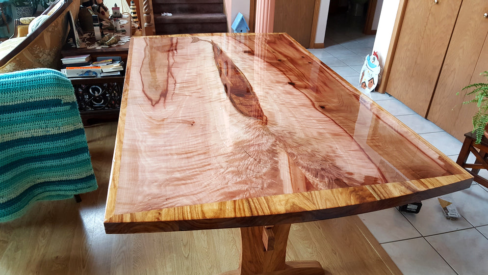 Table in Madrone Slabs