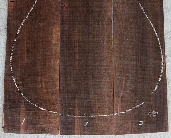 CITES Approved Brazilian Rosewood 3 Piece Back Set
