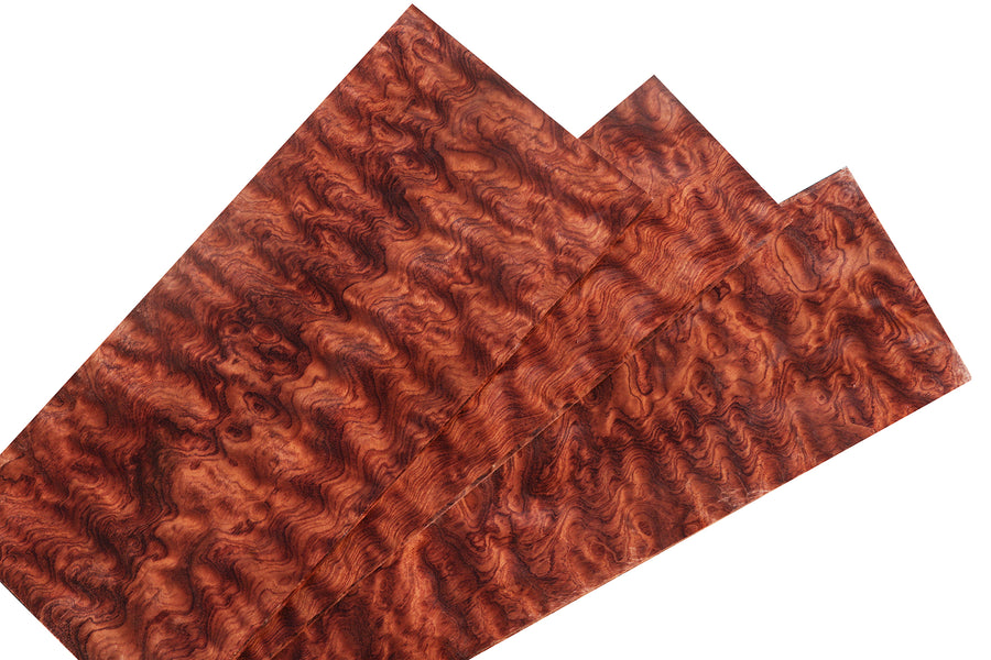 "Exhibition Waterfall Bubinga Veneer Sheet (24"" x 10"")"