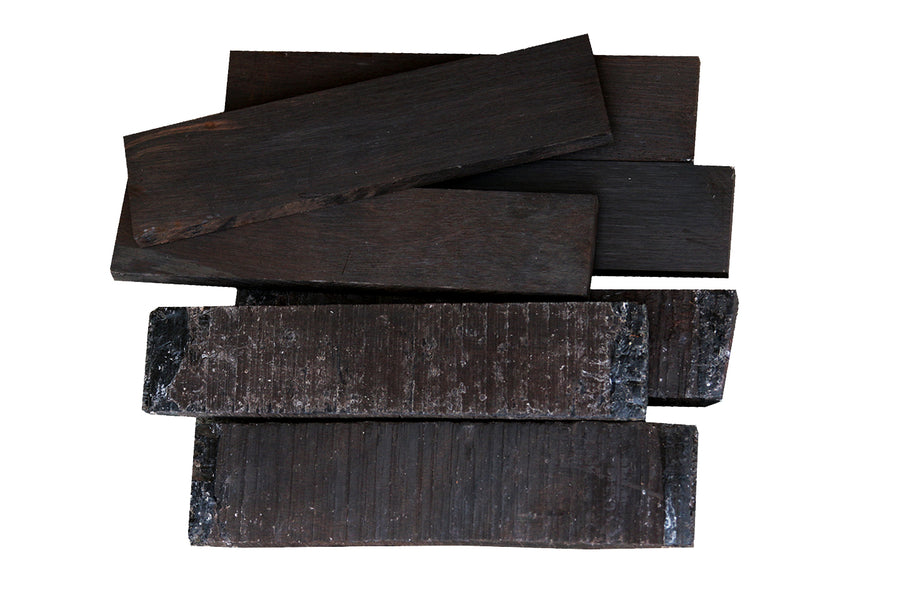 "Ceylon Ebony Bridge Blank (7"" to 7-7/8"" x 1-1/4"" to 1-9/16"" x 7/16"" to 7/8"")"