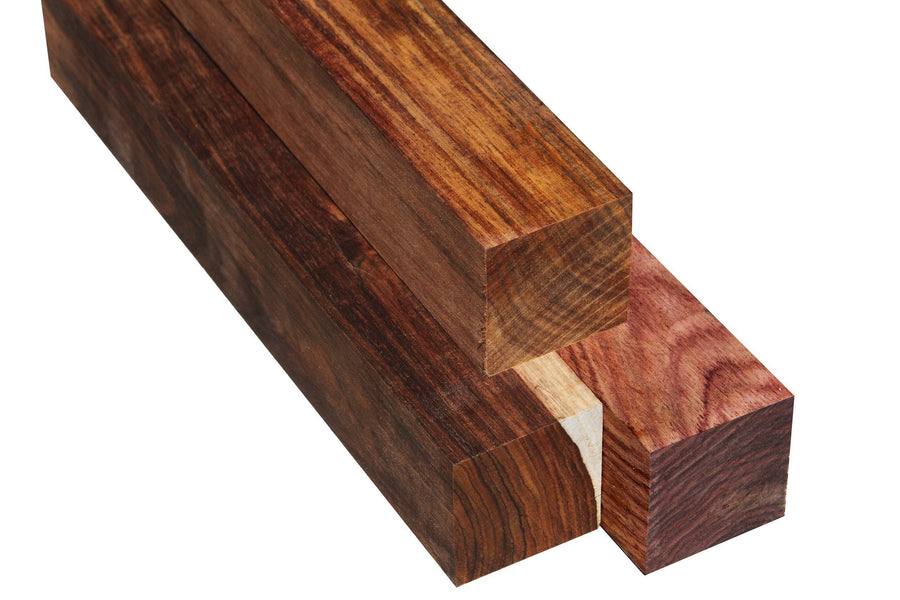 "Costa Rican Cocobolo Turning Square (12"" x 2"" x 2"")"