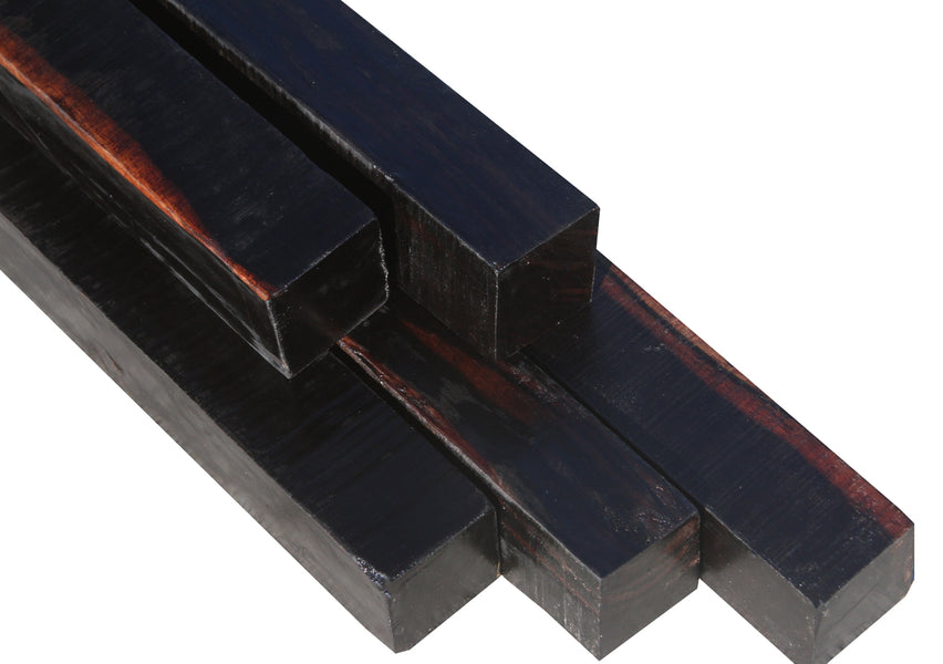 "Ceylon Ebony Turning Square (10-1/2"" to 11"" x 3/4"" x 3/4"")"