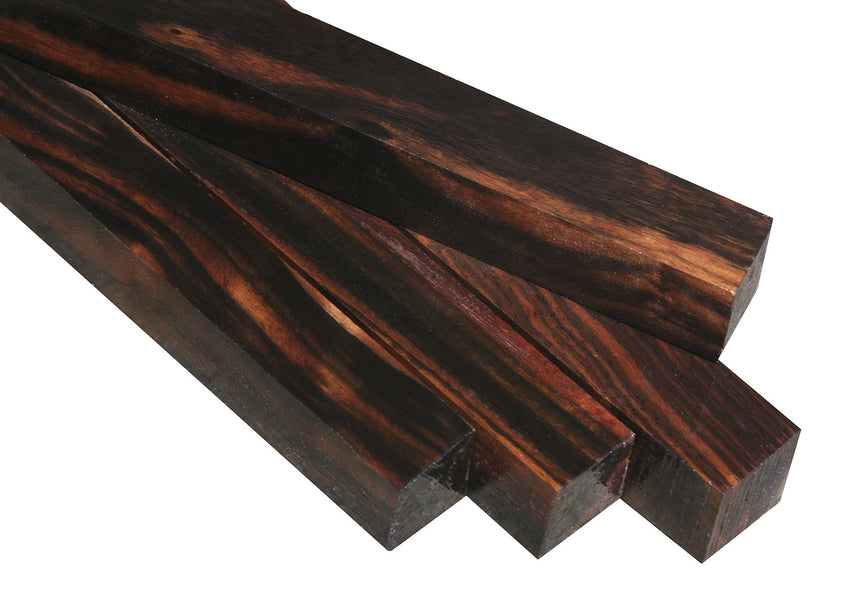 "Striped Ceylon Ebony Turning Square (12"" x 1"" x 1"")"