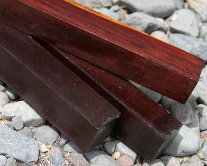 "Mexican Royal Ebony (Katalox) Turning Square (24"" x 1-1/2"" x 1-1/2"")"