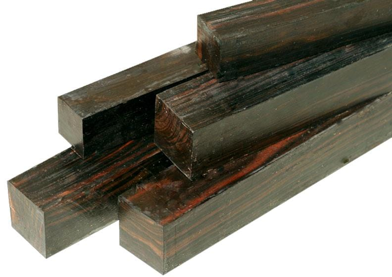 "Macassar Ebony Turning Square (18"" x 1-1/2"" x 1-1/2"")"