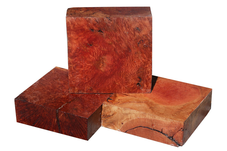 "Red River Gum Burl Bowl Blank (11"" x 11"" x 3"")"