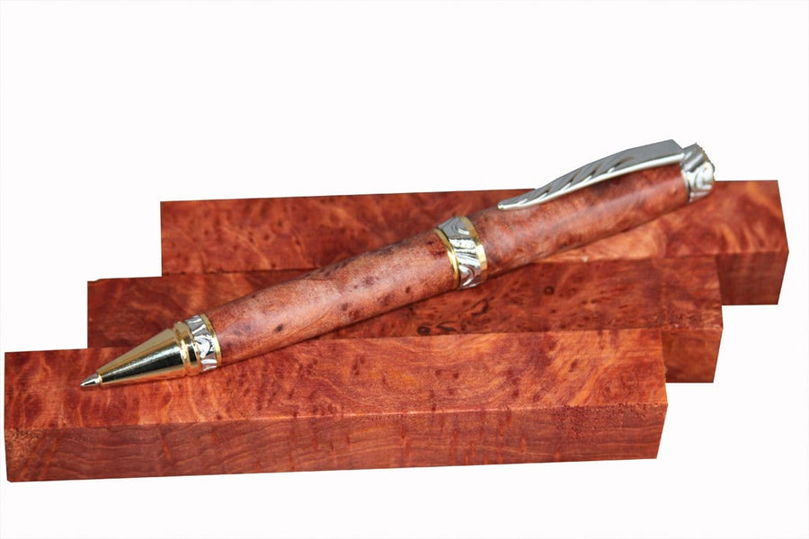 XF Figured Redwood Burl Pen Blank - 3/4""