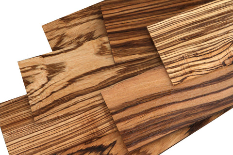 """Zebrawood boards lumber 1//8 or 1//4 surface 4 sides 48/"""""""
