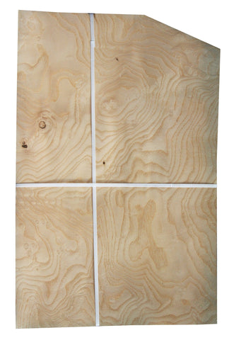 "White Ash Burl Veneer (20-1/2"" x 10-1/2"" down to 6-1/2"" x 1/32"")"