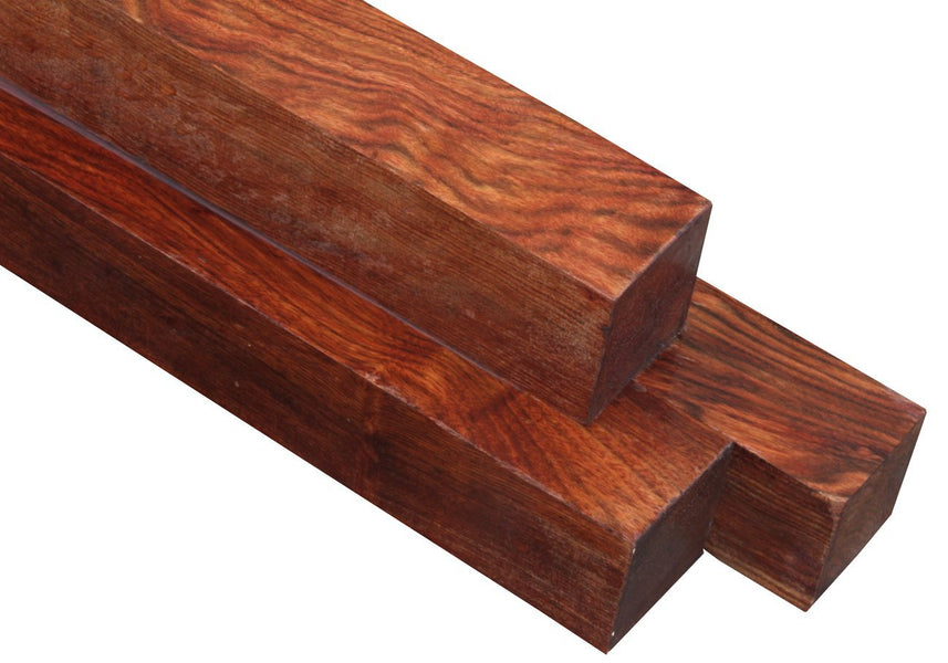 "Chechen / Caribbean Rosewood Turning Square (18"" x 1-1/2"" x 1-1/2"")"