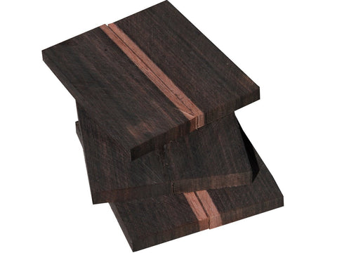 "Bookmatched Macassar Ebony Craft Blank (4""+ x 1-1/2"" x 3/8"")"